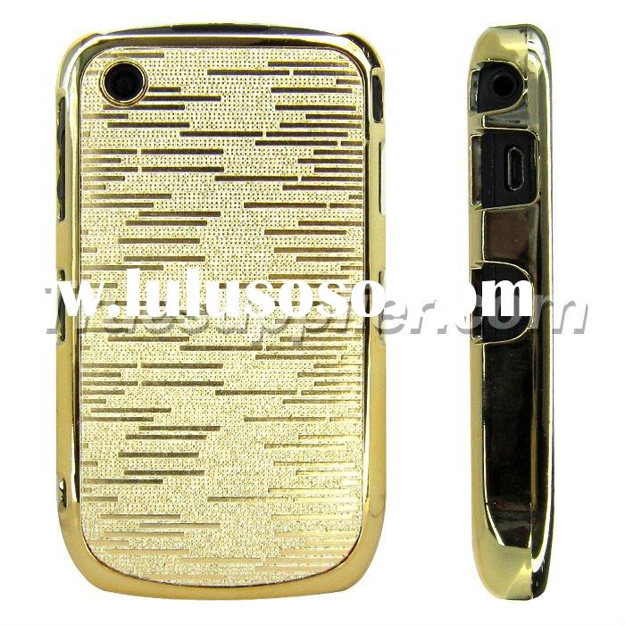 For Blackberry Curve 8520 Chrome Gold Bezel Hard Cases Cover Golden Stripe