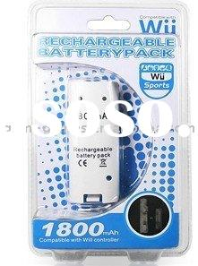 For Wii 1800mAh rechargeable battery pack
