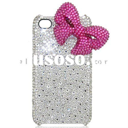 For iPhone 4 Cases With Swarovski Crystal (4G-KTJ8-2) Paypal