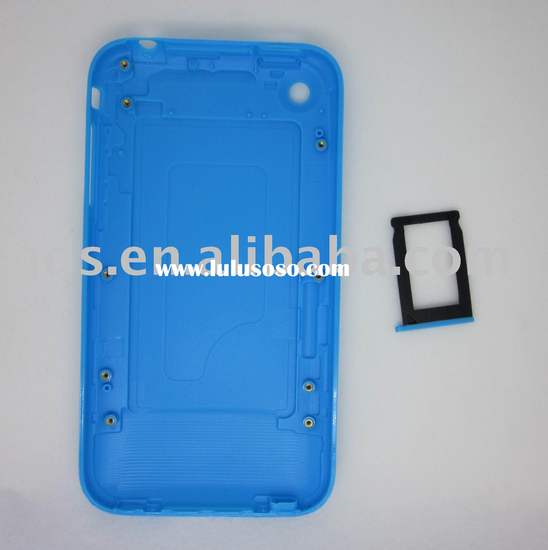 For iphone 3gs back cover with sim card slot tray holder
