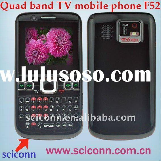 Four sim cards mobile phone F52 with TV