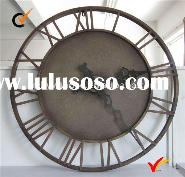 French style vintage metal wall clock home decoration