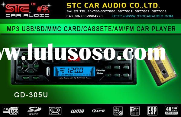 GD-305U car audio/car mp3/car cassette player/support sd/usb