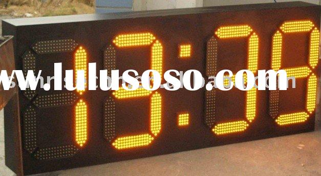 GPS 7 segment led digital clock display