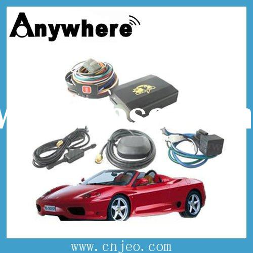 GSM/GPS/GPRS car tracking device ,remote control,free software,overspeed/theft alert,real time track