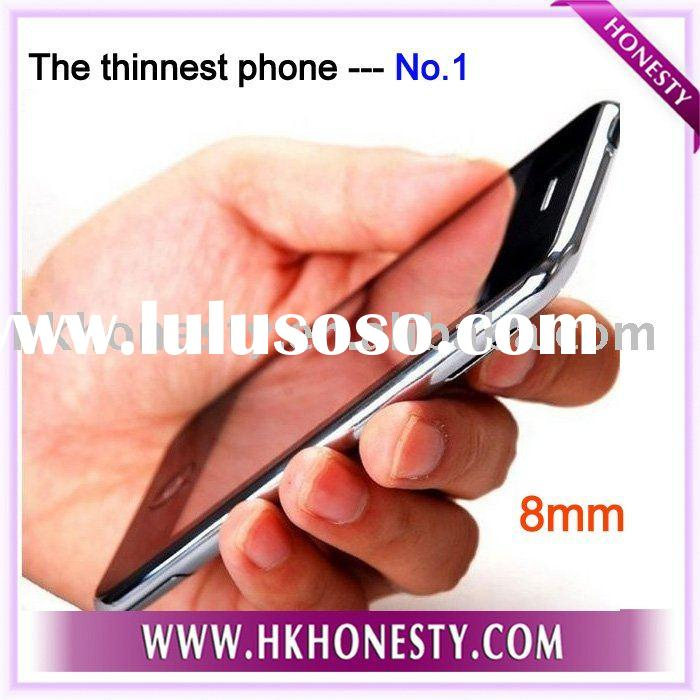 GSM Quad band 3.5'' inch touch screen Wifi+JAVA+FM Thinnest mobile phone No.1 Wholes