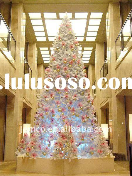 Giant Artificial outdoor Christmas trees, single pole, 13 to 50 feet tall, assembly, steel structure