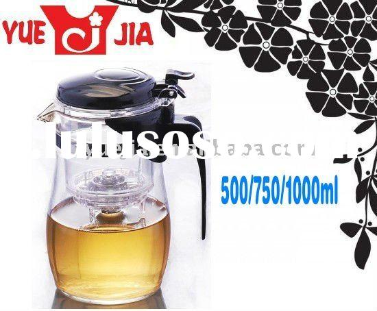 Glass Teapot Coffee Pot Tea Kettle W/Strainer Infuser