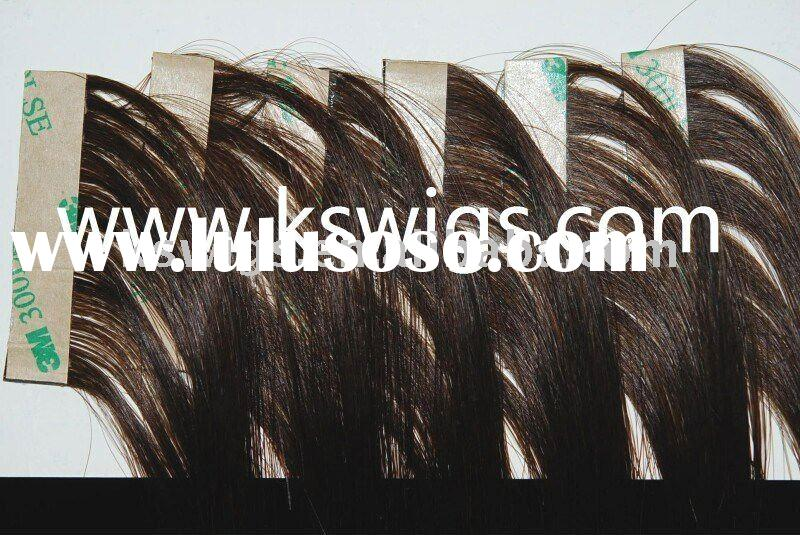 Glue in hair weft extension