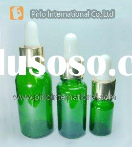 Green Glass Essential Oil Bottle With Dropper