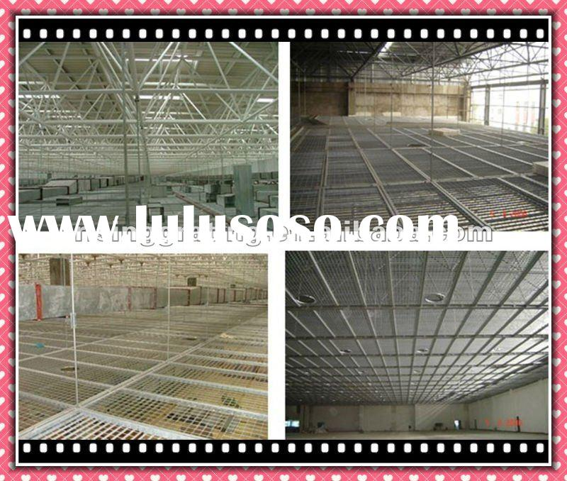 HDG or painted steel grating ceiling for shopping mall or gym