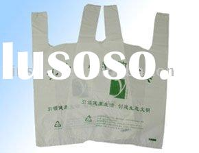 HDPE recyclable plastic T-shirt bag
