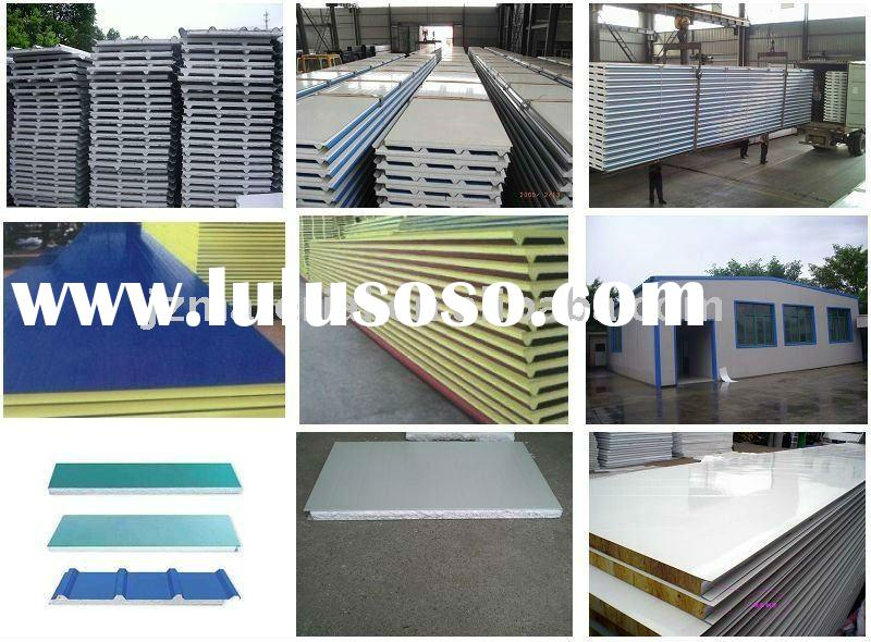 HOT PU POLYURETHANE SANDWICH PANEL COLORED ROOF TILE STEEL SHEET/COLOR METAL ROOF TILE/CORRUGATED RO