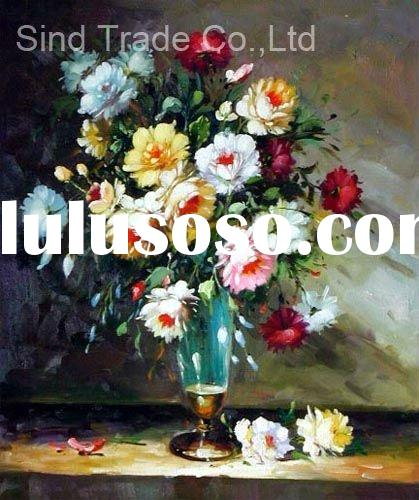 Handpainted modern decorative flower oil painting