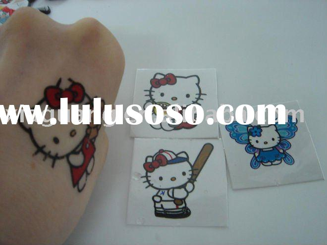 Hello Kitty Fashion and Cool Water Transfer Tattoo Sticker
