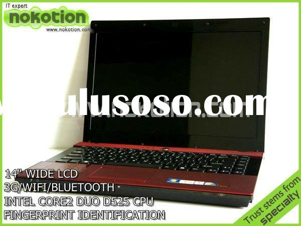 High Quality 14'' 3G Notebook PC with fingerprint identif FOR INTEL CORE2 D525 1.83G