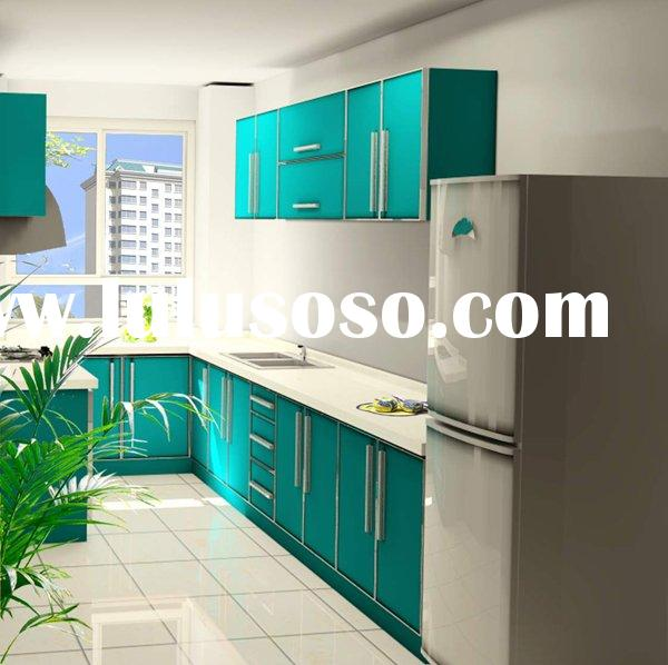High Quality UV Lacquer Kitchen Cabinets with Man-Made Stone Countertop