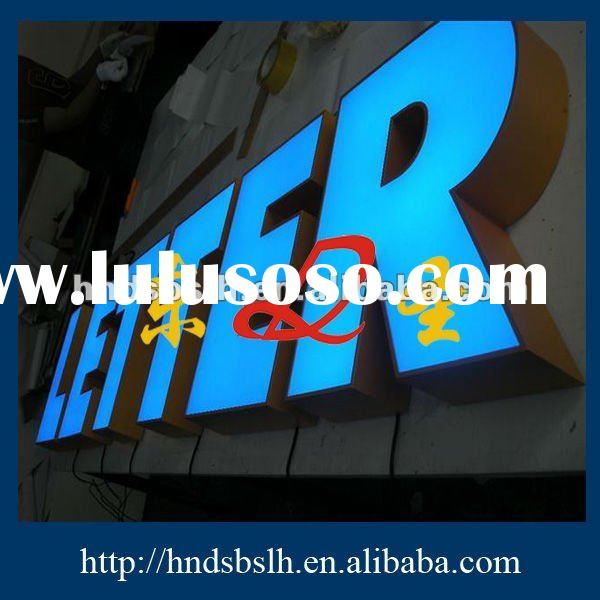 High-quality acrylic face and stainless shell led signs