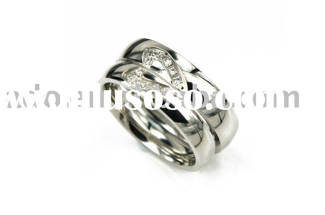 Hot Couple ring with Swarovski crystal