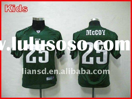 Hot sell jersey Philadelphia 25 LeSean McCoy green youth jersey 100% stitched real jersey