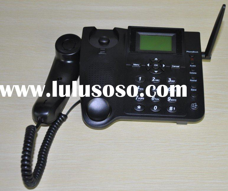 Hot selling Dual/Quad-band GSM desktop phone with SMS