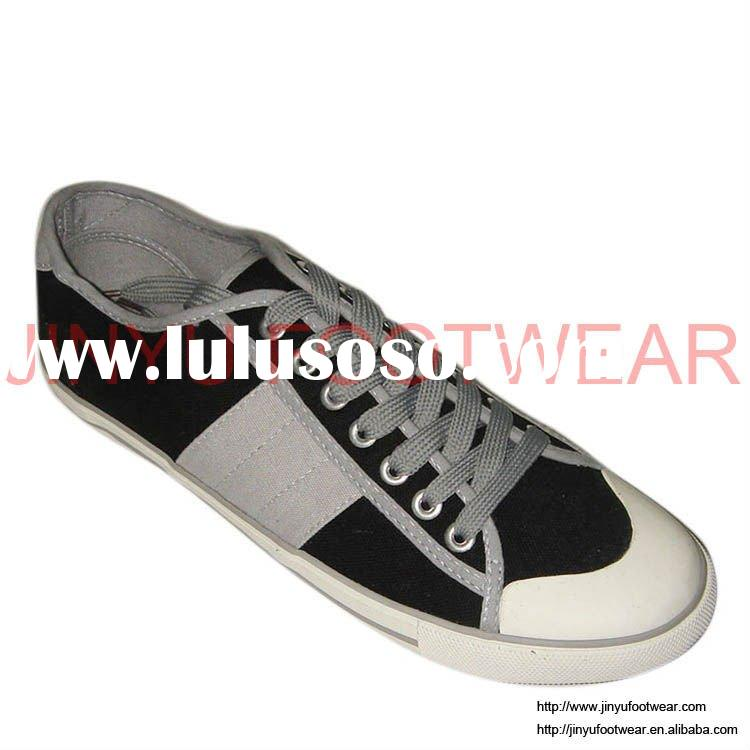 Hot selling mens polo canvas shoes