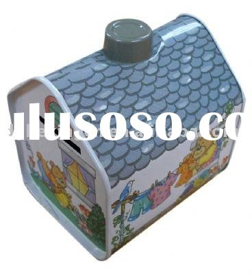 House-shaped coin bank