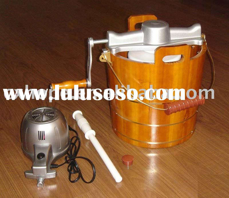 Ice Cream Maker (Wooden bucket ice cream maker, ice cream machine)