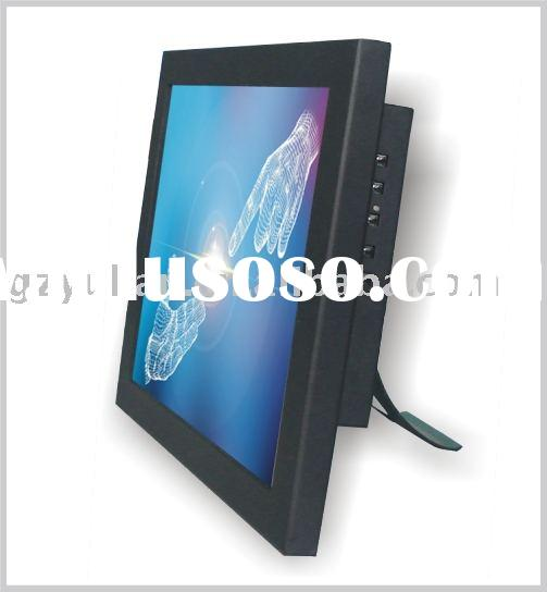 Industrial touch screen monitor with credit card reader/ Wall mounted monitor