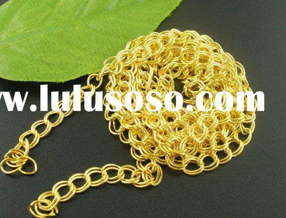 JEWELRY FINDINGS 2MM gold plated chain