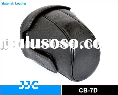 JJC camera case for the Canon EOS 5D Mark II, EOS 7D and EOS 60D with lens attached