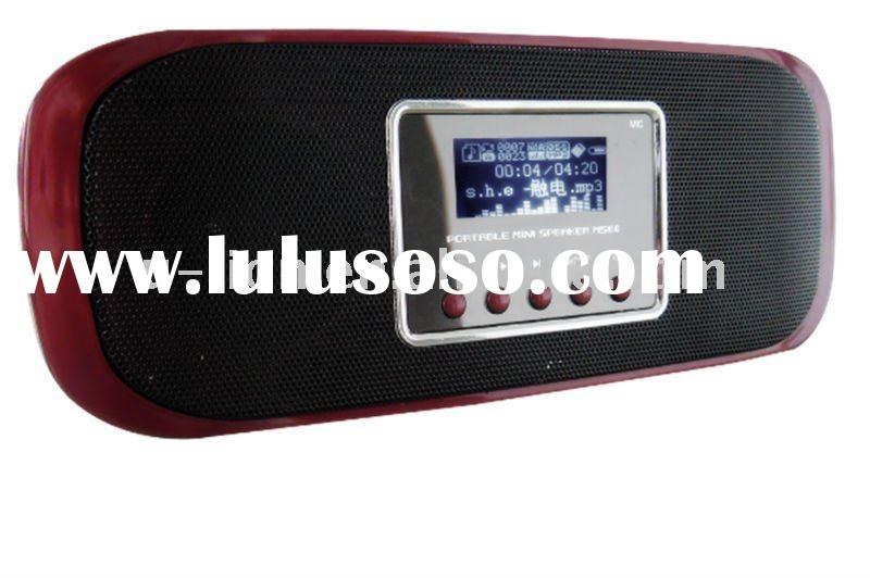 LCD display mini speaker with rechargable mobile phone battery