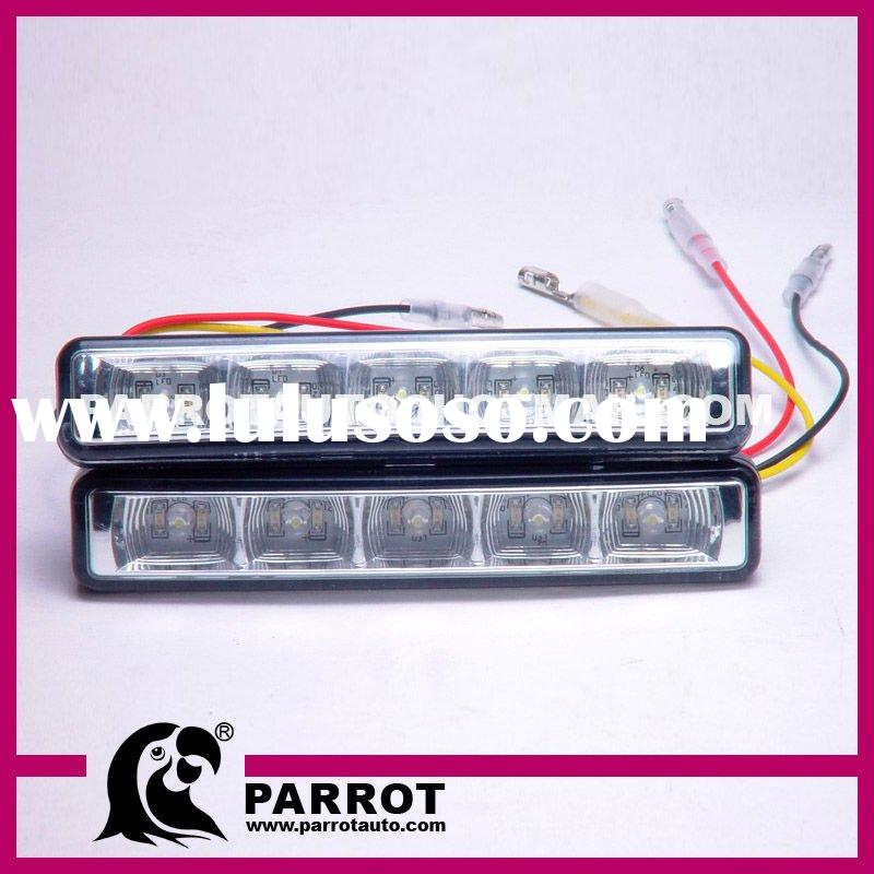 LED Car DRL Turn Signal/ 5*2 10w/ 100% waterproof LED DRL/ turn signal function
