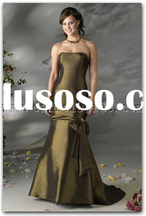 LY-20238019 light and dark green Bridesmaid Dresses\gown dress \fashion designer evening dress\