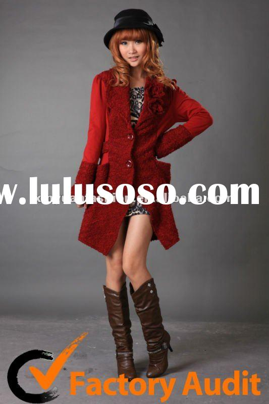 Ladies Fashion Wool Dress Coat