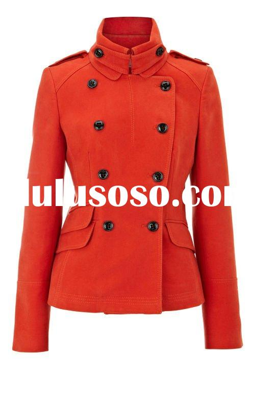 Ladies hottest selling fashion coat with short turtleneck