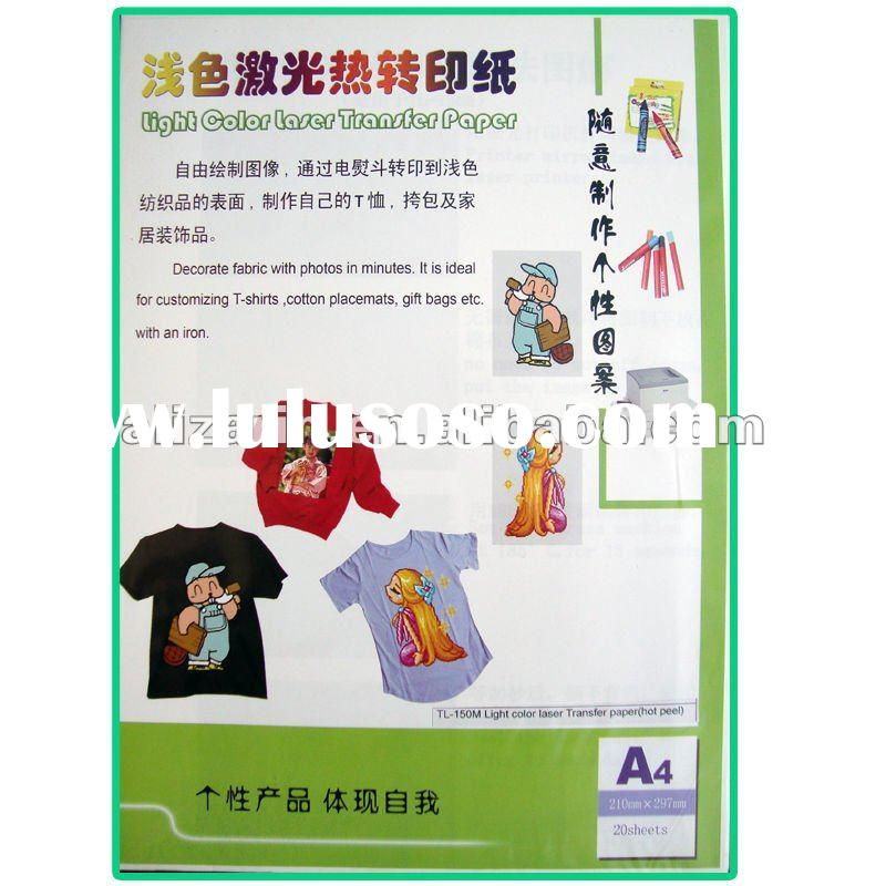 Light laser heat transfer paper
