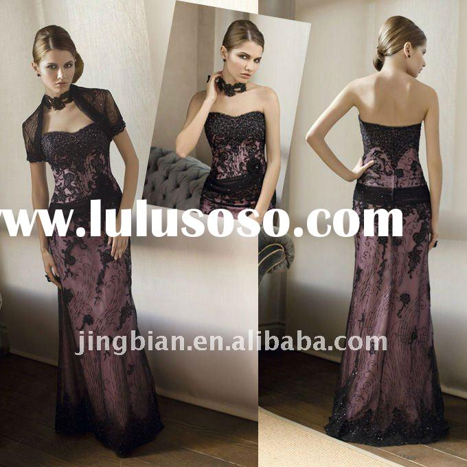 MOD85 2012 New Design Guaranteed Really Beautiful Party Gown Formal Black Lace mother of the bride D