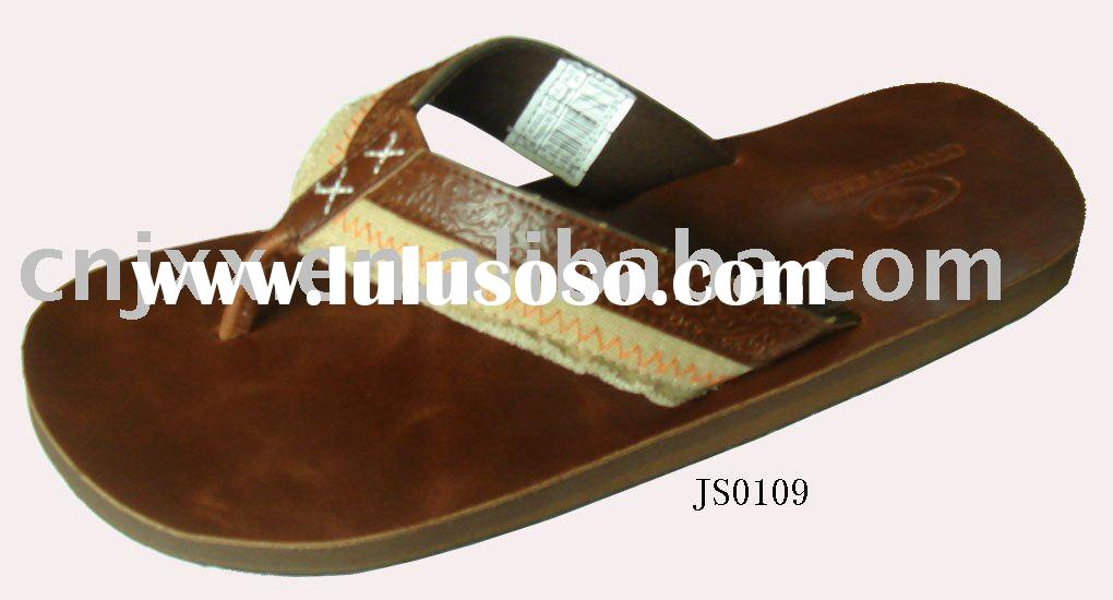 Men leather slipper