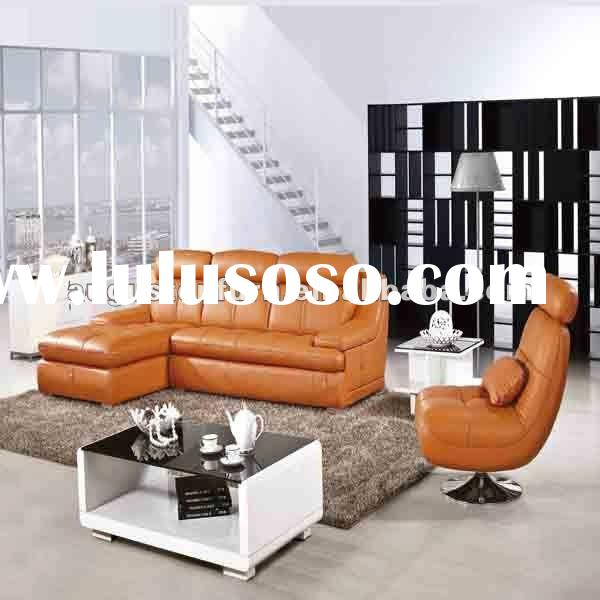 Modern living room furniture leather sofa