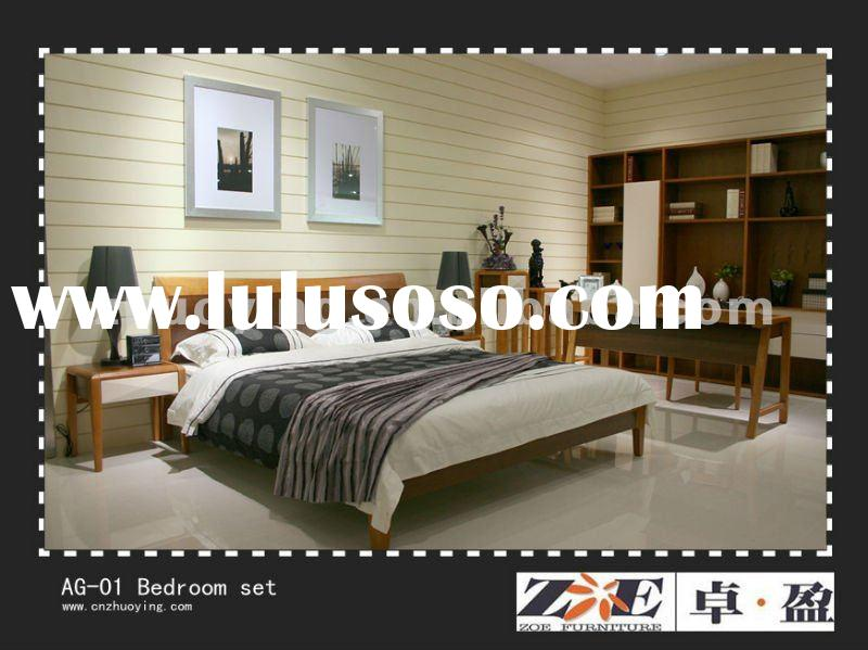 Modern solid wood bed for home furniture