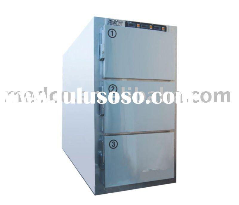 Mortuary undertaker's 3 Corpses stainless steel cold storage,corpse freezer,3 death cadaver