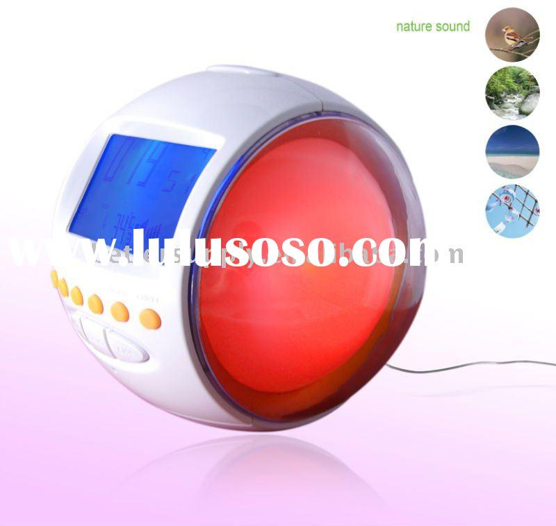 Multifunction wake up lamp alarm clock radio BS-C4058