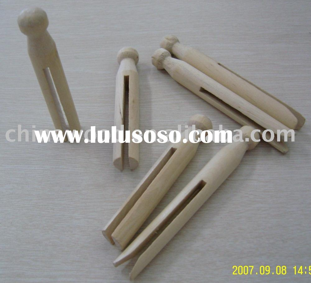 Natural Birch Wooden Craft Dolly Pins YDW-010