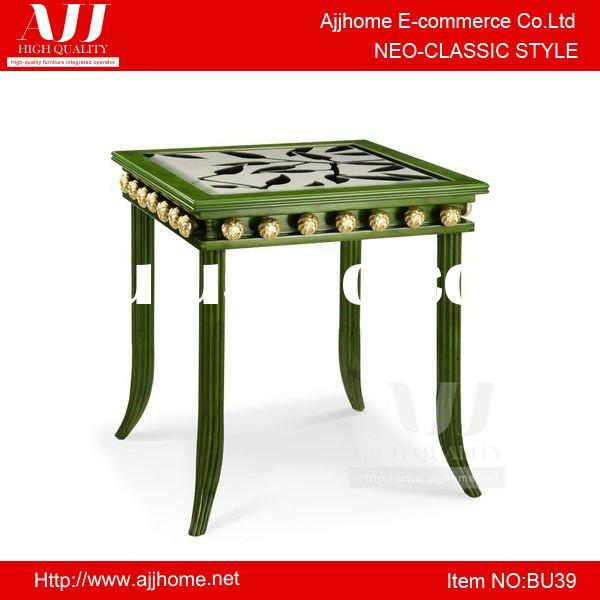 Neo-classic style living room small square coffee table