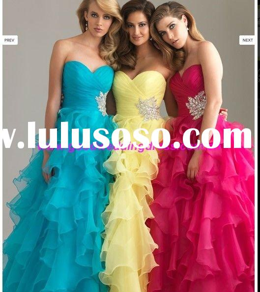 New Arrival Allure Sweetheart Beaded Prom Dress 2012