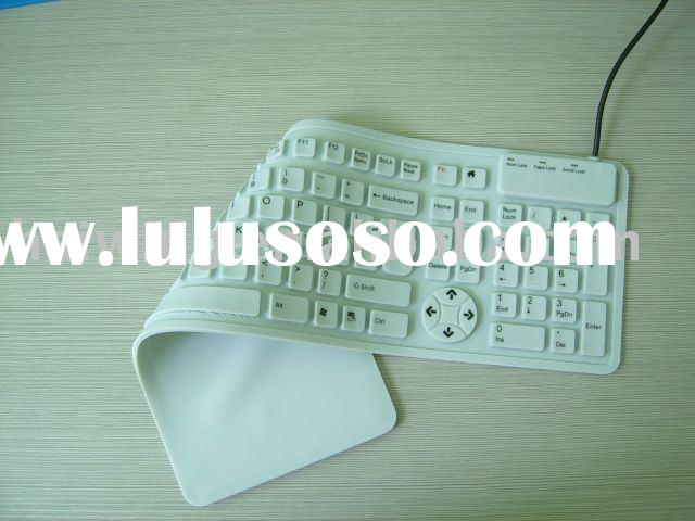 New Type Super Slim Multimedia Roll Up silicone Keyboard