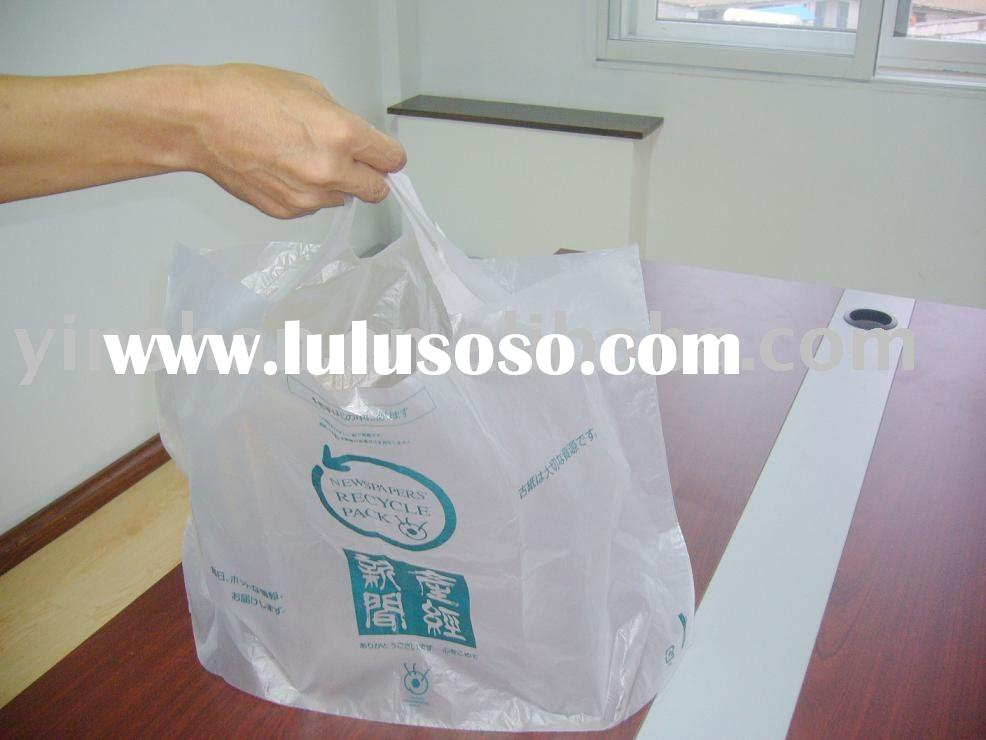 Newspaper recyclable pack PE bag with high quality