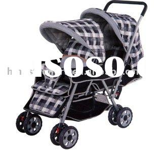 OBS602, Twins Stroller, baby three wheels Carriage, Baby Walker, Baby Stroller, Baby Carrier, Baby B