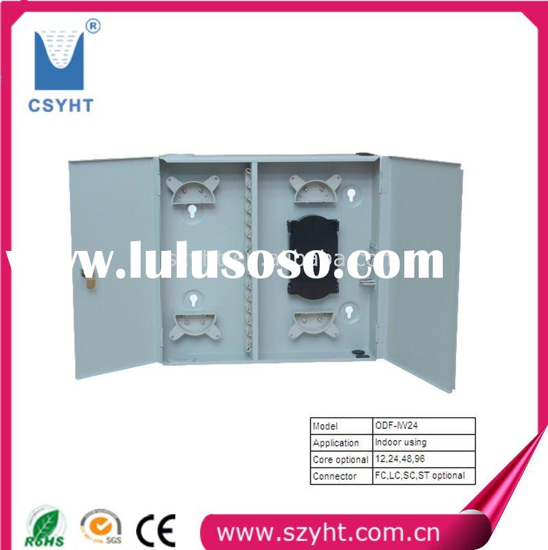 ODF-IW24 indoor wall type fiber optic patch panel with 24 ports and Cold-roll steel material